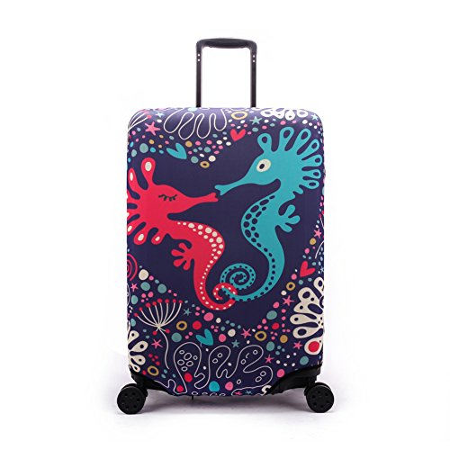 "Maddy's Home Elastica Suitcase Cover Proteggi bagagli luggage Cover,Pop Gatto (Cavalluccio marino, XL (Fit 29""-32"" suitcase))"