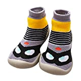 7d9f293c1af54 LPATTERN Calcetines Estampados Primeros Pasos con Suela de Goma  Antideslizantes para Bebés Niños Zapatillas de Algodón