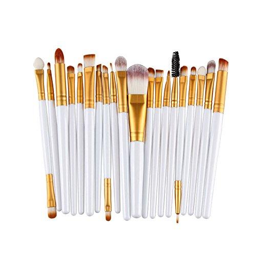 Emorias 20pcs/Ensemble Superbe Pinceau de Maquillage Belle Brosse de Fard à Joues Brosse de Fondation Eyeliner Brush Fard à Paupières Outil de Maquillage Multifonctionnel