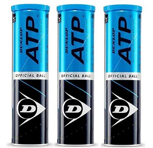 Dunlop Tennisbälle ATP offizielle Packung mit 12 Bällen (3 x 4)