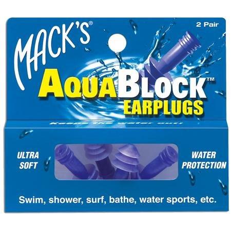 Macks Aqua Block Ohrstöpsel Violett violett 2 Pairs (Ii Surf)