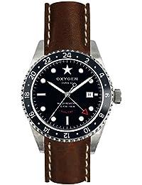 OXYGEN EX-DT-BUF-42-CL-DB - Reloj de pulsera unisex, piel, color marrón