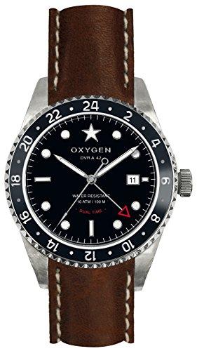 OXYGEN EX-DT-BUF-42-CL-DB Montre bracelet Mixte, Cuir, couleur: marron