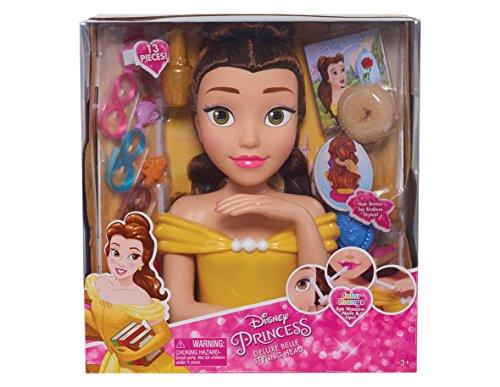 Disney Princess Belle Deluxe - Cabeza de peluquería