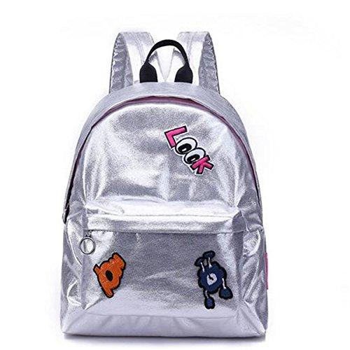 Ourbag Damen Madchen Laser Rucksack Personlichkeit Mode Handtasche