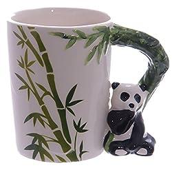 Tasse Panda Henkel mit Bambus Deko-Druck