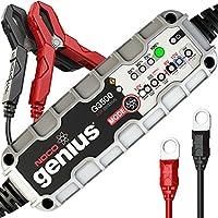 Noco G3500EU Genius Caricabatteria Smart, 6 V/12 V, 3.5 A, ottimizzato per batterie Start-Stop con tecnologia AGM ed EFB