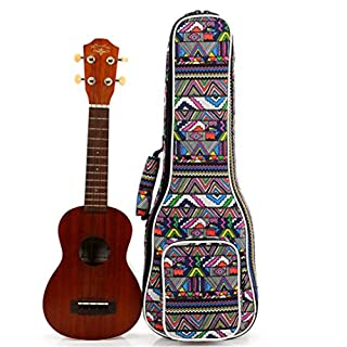 Abaobao- 26 inches Ukulele Case Carrying Bag with Adjustable Shoulder Strap, Comfortable Carrying Handle, Thick Padding and Enhanced Glide Zipper (Ukulele 26