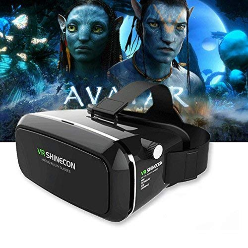 "Spykart VR SHINECON 4th Generation 3D Virtual Reality Headset with Stereo Headphonefor 3.5"" -6.0"" Smart Phone(Black)"