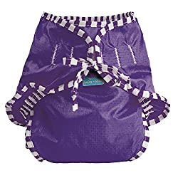 Kushies Baby Unisex Swim Diaper, Purple Solid, Small