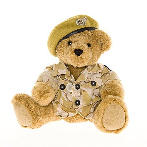 Preisvergleich Produktbild Armee Teddy Bär mit khaki Baskenmütze - Die großartige Britishe Teddy Bären Fabrik