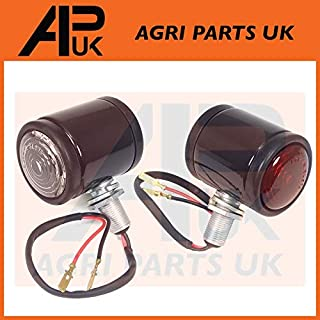 APUK 2 X Ferguson TE20 TEA20 TED20 TEF20 Tractor Black Butler Side Maker Light Lamp