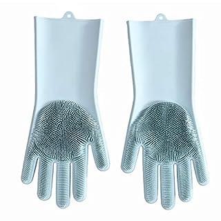 ACMEDE Silikon-Handschuhe Spülhandschuhe mit Wash Scrubber Reinigungsbürste - Hitzebeständig Wiederverwendbar zum - Geschirrspülen Reinigen Küchenhaushalt