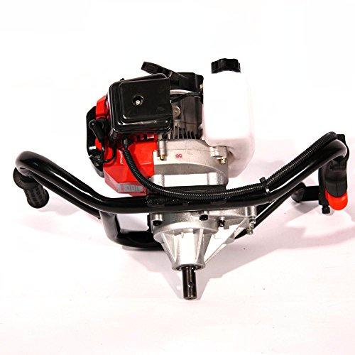 Arebos Erdbohrer Erdlochbohrer Pfahlbohrer Erdbohrgerät mit 2-Takt-Motor Benzin 52ccm 2,18 PS -