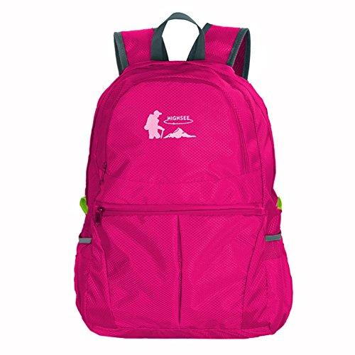 outdoor Klapp camping Tasche/Wasserdichte portable Falt Rucksack/ Wanderrucksack C