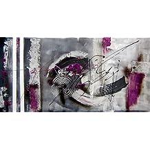 pintura original abstracto semicírculos moderno