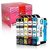Cseein 5x Sostituzione 29XL Cartucce d'inchiostro Compatibile con Epson Expression Home XP-235 XP-247 XP-335 XP-245 XP-432 XP-332 XP-342 XP-435 XP-442 XP-345 XP-445 Stampante