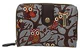 SwankySwans Classic Tree Owl Small Wallet in Grey
