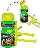 Fahrradtrinkflasche - ' Teenage Mutant Ninja Turtles ' - incl. Name - 360 ml - mit Halterung / Halter für Kinder Fahrradflasche - Fahrrad Trinkflasche - universal auch für Roller und Dreirad Laufrad - Jungen - Flaschenhalter - Kunststoffflasche Kinderfahrrad - Hero - Turtle / Schildkröten - Wasserflasche - Sportflasche / Fahrradflaschenhalter