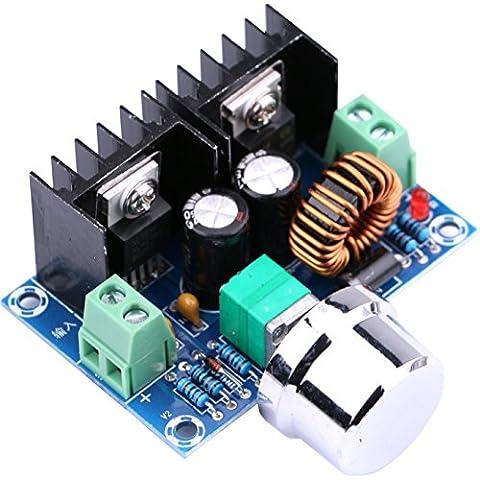 Yeeco XL4016E1 DC a DC 4-40V 1.25-36V 8A Convertidor de moneda Regulador Voltaje 36V 24V 12V a 5V Alto Voltaje Eficiencia De Bajada Convertidor Fuente Alimentación con Perilla Ajustable Pantalla LED Car Audio