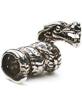 Bartperle Drache 925 Silber Länge: 2.3cm Haarperle Haarschmuck Sterlingsilber Schmuck Männerschmuck
