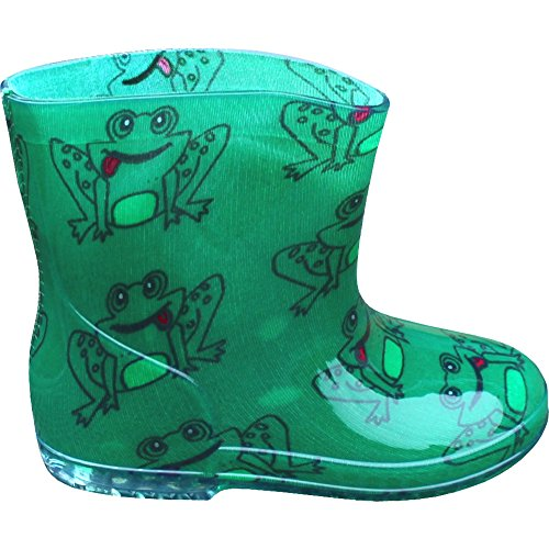 Toddlers & Boys Green Frogs Wellington Boots