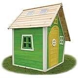 EXIT Fantasia 100 - casas de juguete (Floorstanding playhouse, Niño/niña, Verde, Madera, Madera, 990 x 1020 x 90 mm, 1120 x 1560 x 70 mm)