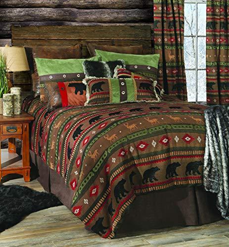Carstens, Inc Carstens Forest Walk 5-teiliges rustikales Bettdecken-Set für King-Size-Bett, Braun (King-size-bett Kiefer)