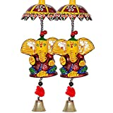 #6: Pindia 'Decorative Ganesh' Paper Mache Door Hanging (Set of 4)