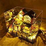 Manoir Journal DIY Petite Maison Assemblé À La Main Modèle Couverture De Verre LED Night Lights Music Box Noël Saint Valentin Cadeaux Exquis En Trois Dimensions Artisanat Décoratif