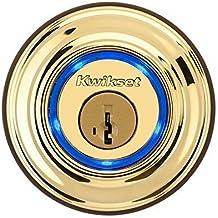 Kwikset Kevo (1st Gen) Touch-to-Open Bluetooth Smart Lock in Polished Brass by Kwikset