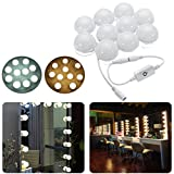 RISHIL WORLD 3M Dimmable Hollywood Style Yellow White LED Vanity Mirror Lights for Makeup Dressing Table DC12V Single Item.