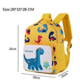 Kids Backpacks Toddler School Bags Dinosaur Children Daypacks Boys Girls Anti Lost 1-5 Years (dark blue)