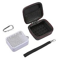 حقيبة LuckyNV المحمولة إيفا سحاب حقيبة صلبة مع غطاء سيليكون ناعم لسماعة JBL Go 2 GO2 Bluetooth (رمادي)