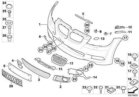 BMW Genuine Front Bumper Towing Eye Flap Primed M Aero Pack E92 E93 Pre-LCI 51118044666