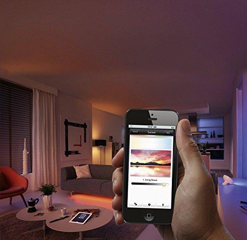 51-1SOJsCkL [Bon Plan Objets connectés] Philips Hue Ruban led connecté Lightstrip Hue 2m Pilotable Via Smartphone (Pont hue requis)