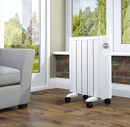 Pifco Green Energy P37001 Ceramic Radiator with LED Digital Control and Timer, Energy Efficient, 1000 W, White