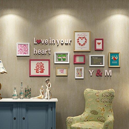 Galleria fotografica ASL Photo Wall parete della struttura creativo fai da te combinazione Carta da Soggiorno Camera da letto di legno solido irregolare Carta da Calore Lettera Combinazione creativa Calore Romantico qualità ( Colore : A )