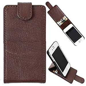 DooDa High Quality PU Leather Flip Down Wallet Case Cover Pouch With Strong Magnetic Closure For Micromax Canvas 4+ A315