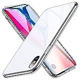 ESR 9H Gehärtetes Glas Hülle für iPhone X [Stoßfest] TPU Rahmen [Kratzfest] Glasrückseite Handyhülle Kabelloses Laden Unterstützen Glashülle Schutzhülle kompatibel mit Apple iPhone X - Weiß