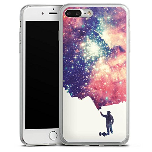 Apple iPhone X Slim Case Silikon Hülle Schutzhülle Universum Space Grafik Silikon Slim Case transparent