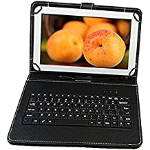 Ikall N4 Tablet with Keyboard (7 inch, 8GB, WiFi + Voice Calling), White Tablets at amazon