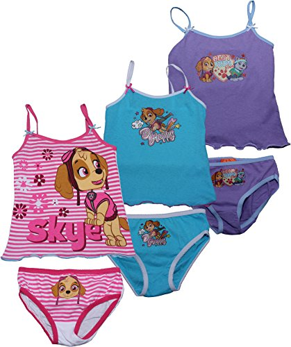 Paw Patrol Girls Underwear Vest and Briefs 3 Pack Set By BestTrend Multi 6-8 Years