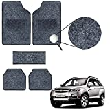 #3: VheeloCityin Carpet Style Chevrolet Captiva Car Foot Floor Mat (Black)