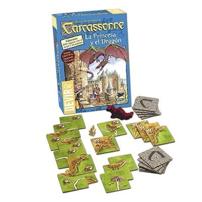 Devir Carcassonne La Princesse et le Dragon, jeu de table (bgprincesa)