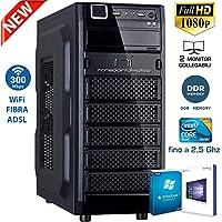 PC DESKTOP CON LICENZA WINDOWS 10 pro oppure Windows 7 pro Talloncino con seriale a vostra scelta INTEL QUAD CORE RAM 8GB DDR HD1TB DVD/WIFI/HDMI FISSO COMPLETO ASSEMBLATO