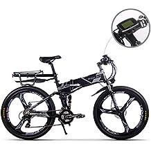RICH BIT Vélo électrique mis à jour RT860 36 V 12.8A Lithium Batterie velo pliant VTT 17 * 26 pouces Shimano 21 Vitesse vélo intelligent E Bike
