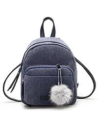 2336f34e43951 Kleiner Rucksack Frauen Leder Rucksäcke Schultasche Rucksack Tasche LMMVP  (Gray)