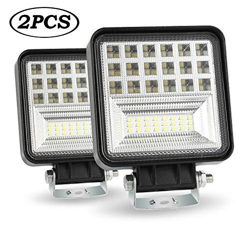 LED-Arbeitslichtbalken, 4 Zoll 126W runder LED-Lichtbalken 12600LM vor der Straße beleuchtet Wasserdichte LED-Lichter des IP68 für LKWs, 6000K LED, die Lichter LED-Birnen Fahren