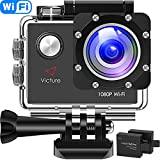 Victure Action Camera Full HD 1080P Wifi Waterproof Underwater Camcorder 2 LCD 170
